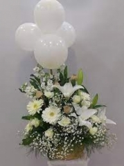 Balonlu Sepette Aranjman