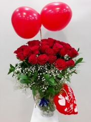 Balonlu Kırmızı Gül